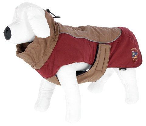 """Kerbl Hundemantel """"Royal Pets"""", Trendiger Mantel für Hunde mit reflektierenden Paspeln, stufenlos verstellbar, Längen 30 – 50 cm (S (35 cm))"""