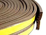 Vetrineinrete Guarnizione sigillante adesiva in gomma 6 metri per spifferi di porte finestre infissi vari profili profilo E marrone 92463 D91