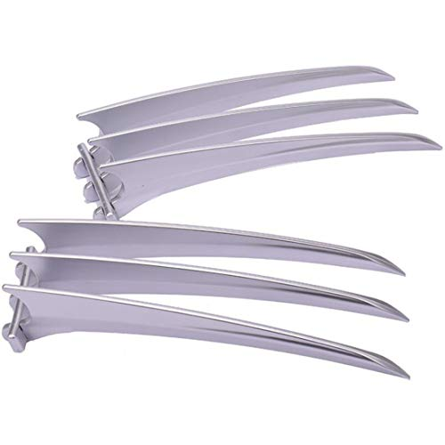HUIGE 2 PCS GARAS DE Wolverine, 1: 1 Safe ABS Plastic Wolverine Glaws Juguetes, Prrras De Pelcula para Los Accesorios De Cosplay De Disfraces De Halloween (9.84 Pulgadas)