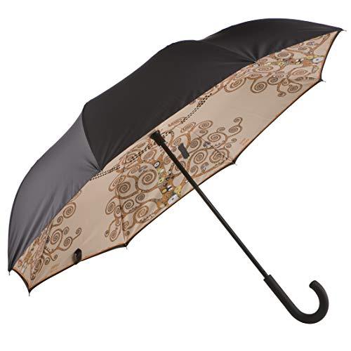 Goebel Der Lebensbaum Stockschirm mit Upside/Down Öffnung Regenschirm Gustav Klimt NEUHEIT 2018