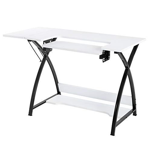 Máquina de coser Tipo de escritorio de computadora costura ajustable simple mesa blanca diaria trabajo estudio espacioso