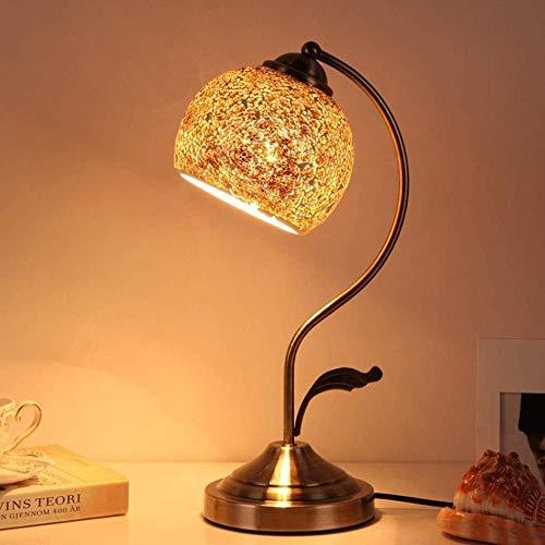 Dimmer Interruptor Dormitorio Mesita Creativa Sala de estar Vidrieras Lámpara de mesa, Estilo Europeo Lámpara de mesa-F