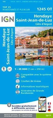 Hendaye St. Jean-de-Luz 1:25 000: 1245/OT (Top 25 & série bleue - Carte de randonnée)
