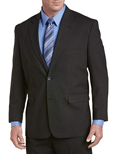 Gold Series by DXL Big and Tall Jacket-Relaxer and Suit Jacket (Regular/Short) Charcoal