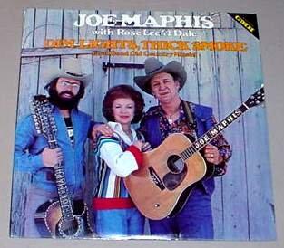 """DIM LIGHTS, THICK SMOKE""---JOE MAPHIS with ROSE LEE & DALE----VINYL LP -  Maphis, Joe"