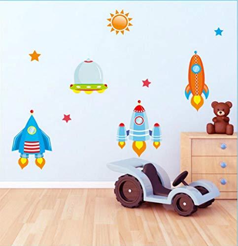 Jkxiansheng Adesivi Murali Astronave Adesivo Per Camerette Ragazzi Baby Nursery Cartoon Decalcomanie Da Muro Decorazioni Per La Casa
