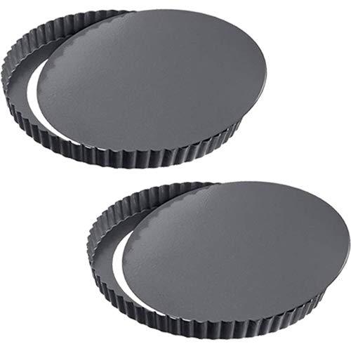 WENTS Quiche Tart Pan antiadherentes 8.8 Pulgadas extraíble Loose Bottom Tart Pie,...