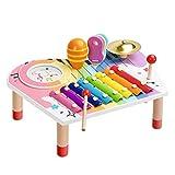BeebeeRun Ensemble Instruments de Musique pour Bébé, Xylophone pour Enfants, Coffret Cadeau d'anniversaire pour Garçons Filles (10 PCS)