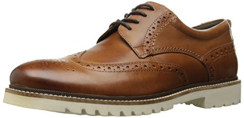 Rockport Men's Marshall Wingtip Oxford, Cognac Leather, 6.5 W US