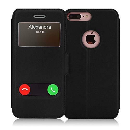 FYY iPhone 8 Plus Hülle,iPhone 7 Plus Handyhülle,Schutzhülle PU-Lederhülle [Magnet Verschluss] [Aufstellbar Ständer],FlipCase für iPhone 8 Plus / 7 Plus 5.5'' schwarz
