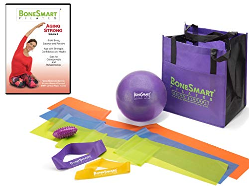 BoneSmart Pilates Aging Strong DVD Vol 2 with Enhanced Props Bundle - Newly Released! - Exercise to Build Bone, Avoid Injury, Age Strong