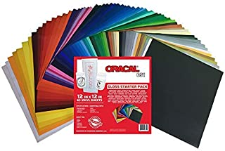 Oracal 651 Popular Pack - Adhesive Craft Vinyl for Cricut, Silhouette, Cameo, Craft Cutters, Printers, and Decals ((63) Sheets)