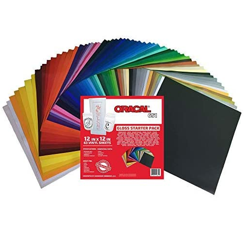 ORACAL 651 Popular Pack - Adhesive Craft Vinyl for Cricut, Silhouette, Cameo, Craft Cutters, Printers, and Decals ((63…  