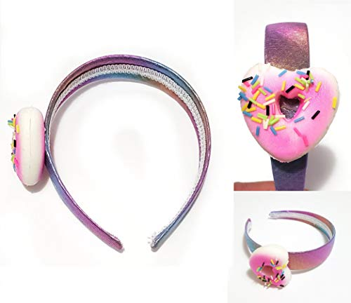 JM Future Heart Shape Donuts Cute Unique Slow-Rising Squishys Headband Scented Squishies Headbands for Girls and Adult Women Party Favors/Classroom/Stress/Toys/Birthday Gift (Pink)