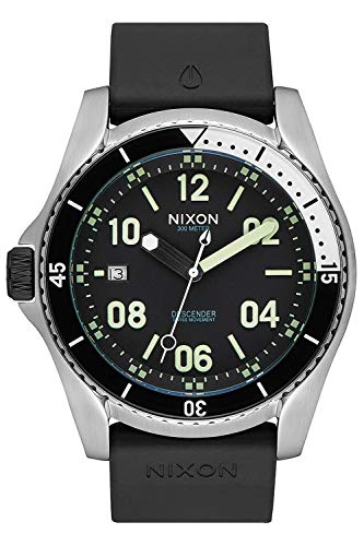Nixon The Descender Reloj para Hombre Analógico de Cuarzo Suizo con Brazalete de Silicona A9602474
