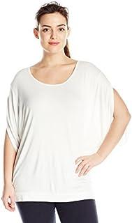 Paper + Tee Women's Plus-Size Scoop Neck Dolman Sleeve Knit Top