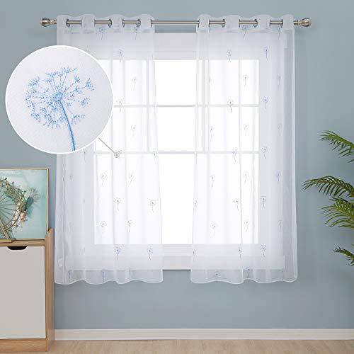 cortinas transparentes cortas