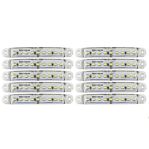10x 12V/24V Weiß Begrenzungsleuchten 9LED Umrissleuchte Positionsleuchte LKW PKW