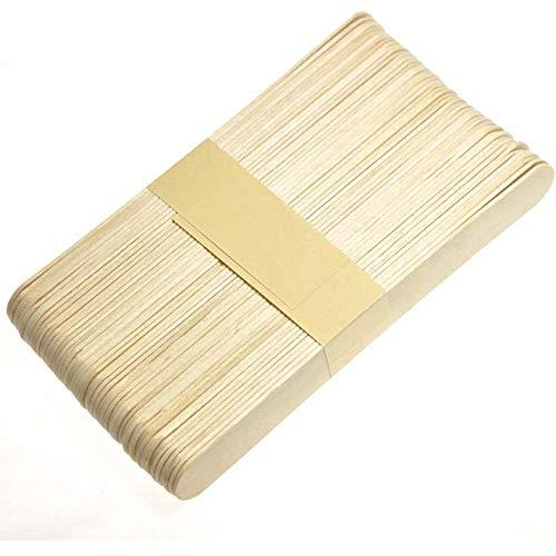 Fliyeong Natürliche Lutscher Popsicle Sticks Holz Handwerk Sticks für Selbstgemachtes DIY Machen 50 STÜCKE