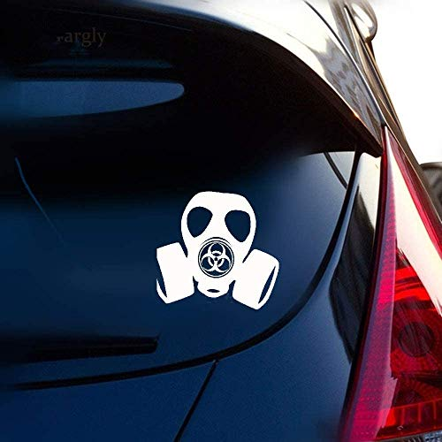 DKISEE Fashion Hazard Gas Mask Toxic Steampunk Zombie Vinyl Decal Car Sticker For Car Laptop Window Sticker 7 inches