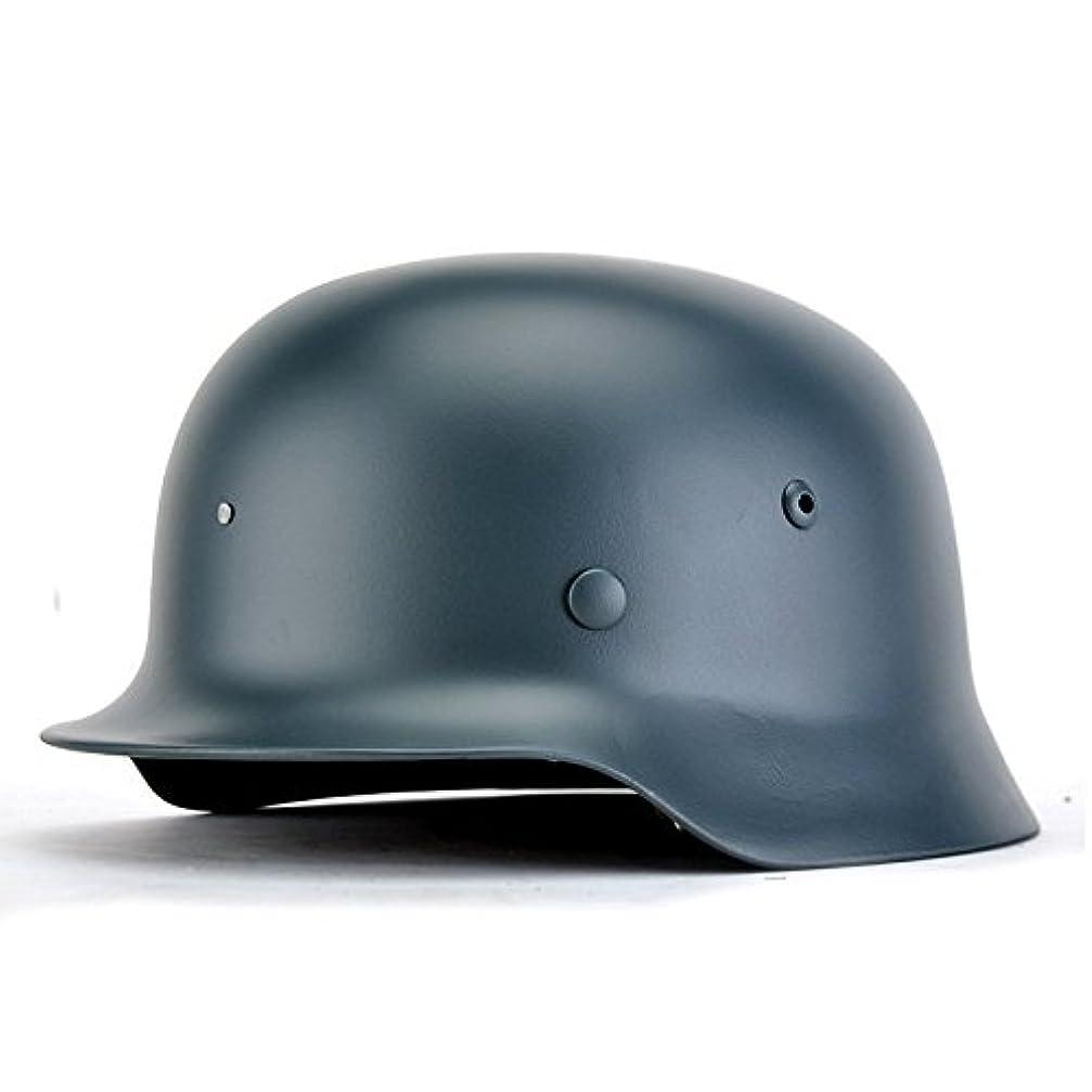 ええスーダン発生するxhsport REPROメンズww2ドイツ軍m35ヘルメットステンレススチールwithレザーサイズM