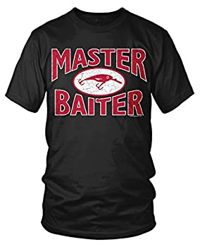 Amdesco Men s Master Baiter Awesome Funny Cheap Fishing T-Shirt Black Large