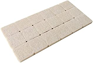 Okayji Self Adhesive Felt Material Square Shape Pads for Furniture Floor Scratch Protection (Grey) -18 Pieces