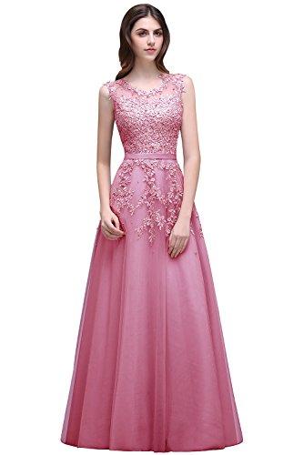 Babyonline® Wunderschönes Kleider Damen Elegant Klassischer Kleider Rundhals Rückenfrei Vintage Retro Brautkleid