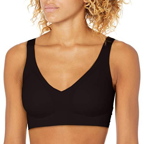 Calvin Klein Women's Invisibles Lift Plunge Bralette, Black, L