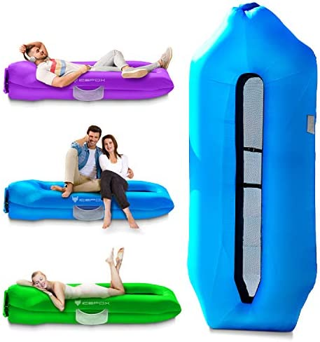 Icefox Inflatable Couch Pool Floats Inflatable Lounger Anti Air Leaking Design Ideal Air Sofa product image