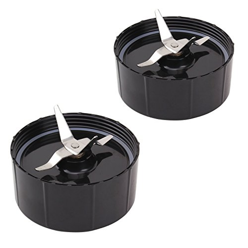 QUIENKITCH 2X Cross Blades for Magic Bullet 250W New With Gaskets Replacement Blender Part