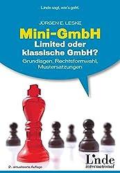 Mini-GmbH oder klassische GmbH