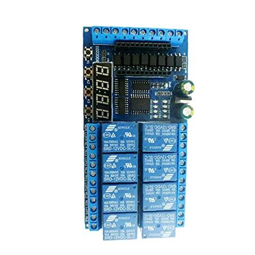Módulo de relevo 12V 8 Board de relé de canal Reemplazo PLC para el retardo de Arduino Temporizador Interruptor de Temporizador Blue Relay Shield Board 12V Relay Shield Board 8 Canal Relé Módulo