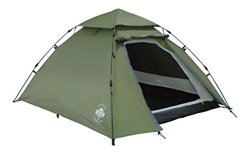 Lumaland Tenda Pop Up da Campeggio Sistema QuickUp di Montaggio, per 3 Persone, 215x195x120cm Verde