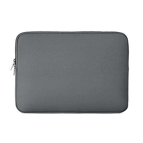 RAINYEAR 14 Inch Laptop Sleeve Case Protective Soft Padded Zipper Cover Carrying Computer Bag Compatible with 14' Notebook Chromebook Tablet Ultrabook(Grey)
