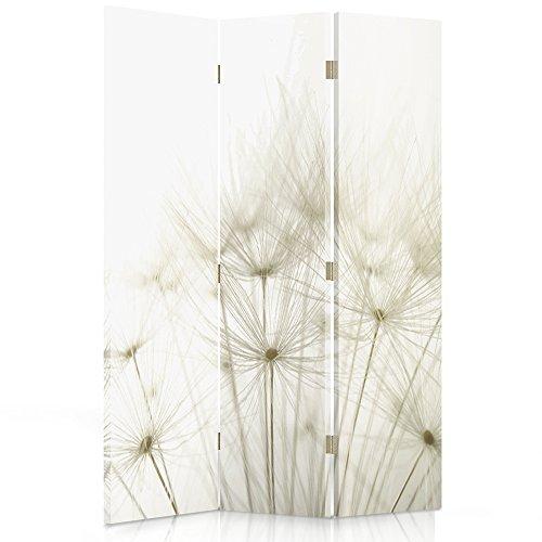 Feeby Frames Paravent déco Nature Impression 1 Face 3 Panneaux Blanc 110x150 cm