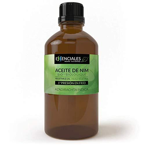 Essenciales - Aceite Vegetal de Nim BIO, Virgen, 100% Puro y Certificado Ecológico, 500 ml | Aceite Vegetal Azadirachta Indica, 1ª Presión en Frío