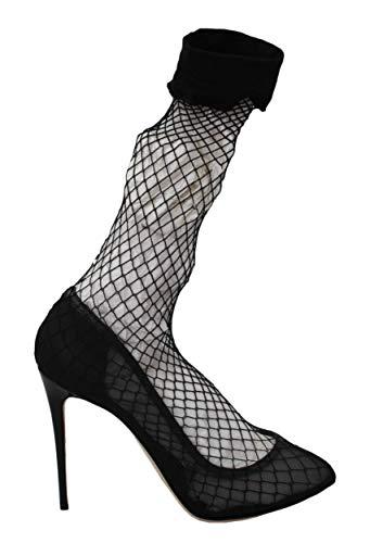 Black Netted Sock Heels Pumps Shoes EU40/US9.5