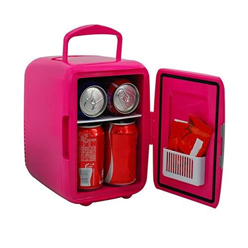 Refrigerador De Coche Mini Nevera PortáTil para El Skincare 4L Latas De Refrescos Mini Refrigerador para Coche CamióN Barco Autocaravana Red