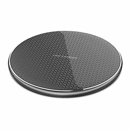 'JUST FOR FUN' Cargador inalámbrico rápido de carga Pad Dock Android Apple iPhone Samsung LG Huawei (negro)