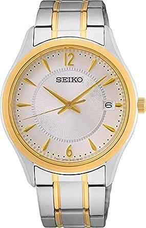 Seiko Reloj Analógico para Hombre de Cuarzo con Correa en Metal SUR468P1