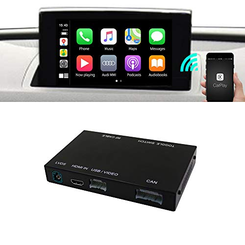 Carlinkit - Interfaccia wireless per auto Android per Audi Q3 Factory Screen Upgrade con Android Auto iOS12 AirPlay Screen Mirroring (supporto Goolge, Waze, Sogou e Gaode Map)