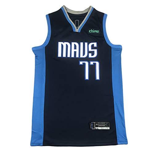 Dallas Mavericks De Los Hombres 77# Luka Doncic Baloncesto Fan Vest Camiseta, Fibra De Poliéster, Secado Rápido, Transpirable, Resistente Al Desgaste S