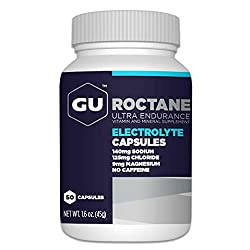 a bottle of gu rocktane electrolyte capsules