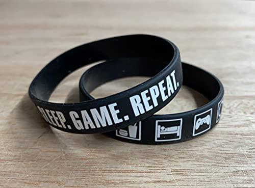 Video Game Party Favor Bands, Gamer Birthday Supplies Goody Bag Kids Teen Tween Size Wrist Bracelets for Boys Girls 24 Pack