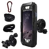 iPhone 専用 防水マウントキットiphone マルチ機種 ハードケース バイク 自転車 アウトドア 360度自由に回転 (iPhone6/6s7/8(4.7インチ))
