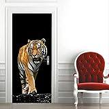 Diy Creative 3D Tiger Door Paste Reacondicionado Autoadhesivo Papel Dormitorio Habitación Pasillo Liquidación Secreta Decorativo Pvc Papel Pintado Pegatinas