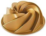 NordicWare Gugelhupfform mit filigranen Einkerbungen, Aluminium, Gold, 21,6 x 21,6 x 10,2 cm