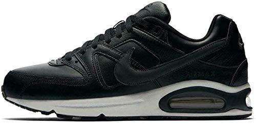 Nike - Nike Air Max Command Leather Sneakers Herren Mode Leder 749760 001 Schwarz - 44, Schwarz