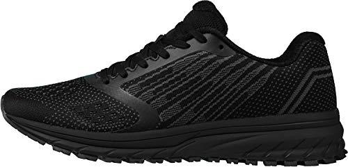 WHITIN Zapatos para Correr Hombre Mujer Zapatillas de Deportes Tenis Deportivas Running Calzado Trekking Sneakers Gimnasio Transpirables Casual Montaña Negro 41